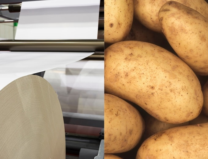 Paper v Potato: Which is better? Paper or compostable magazine wrap?